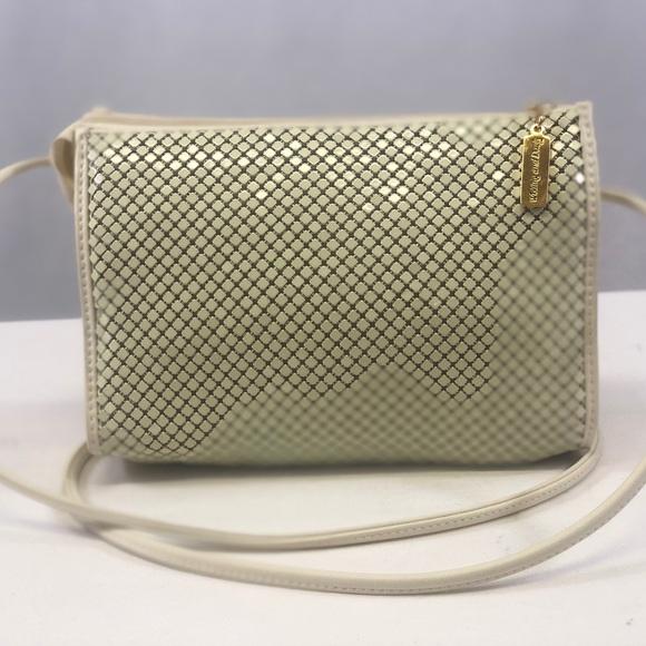Whiting & Davis Handbags - Whiting and Davis cream mesh evening shoulder bag